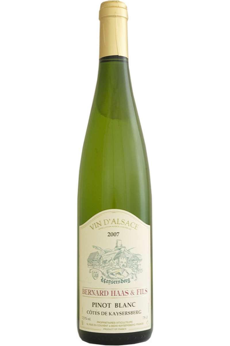 Pinot Blanc, Bernard Haas & Fils, Côtes de Kaysersberg, Alsace, 2015