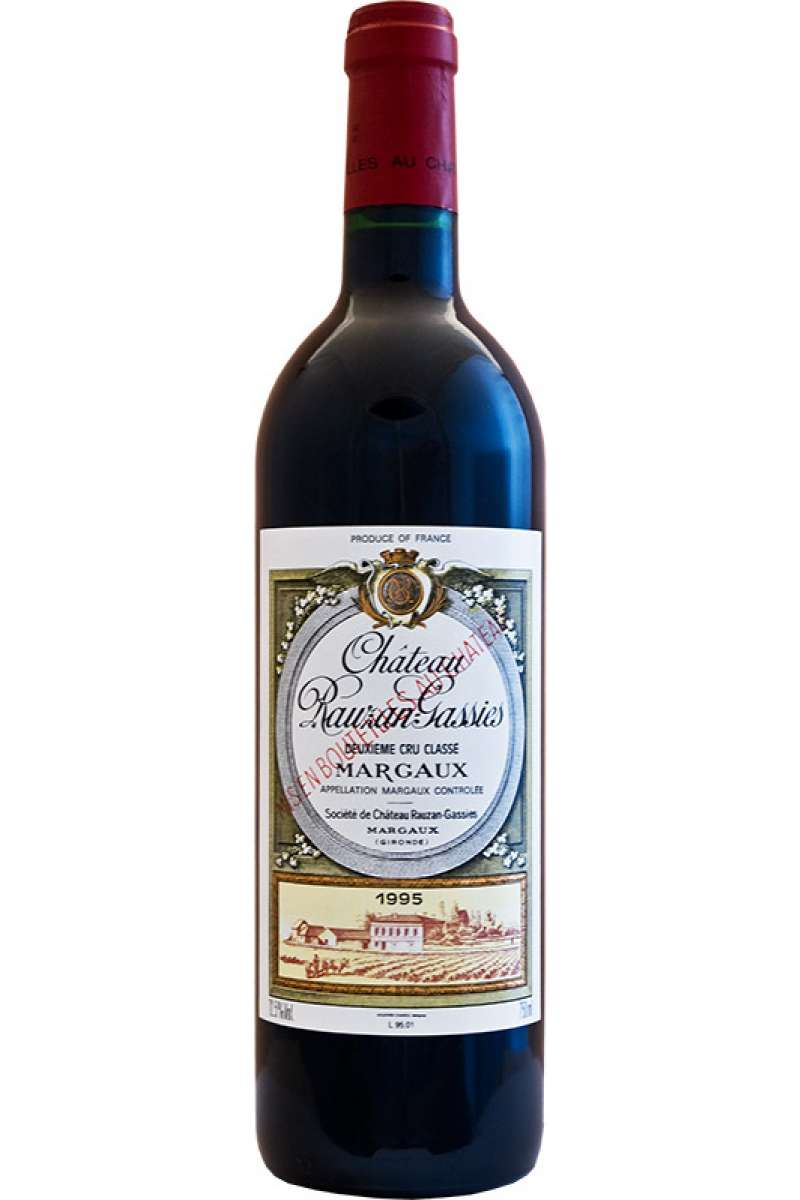 Chateau Rauzin-Gassies, 2éme Grand Cru Classé, Margaux, France, 1995