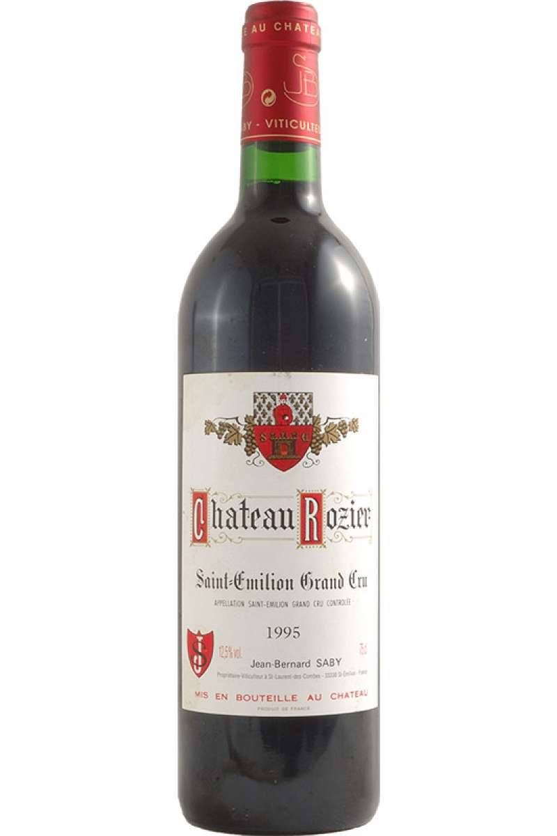 Chateau Rozier, Grand Cru, Saint-Émilion, Bordeaux, France, 1995