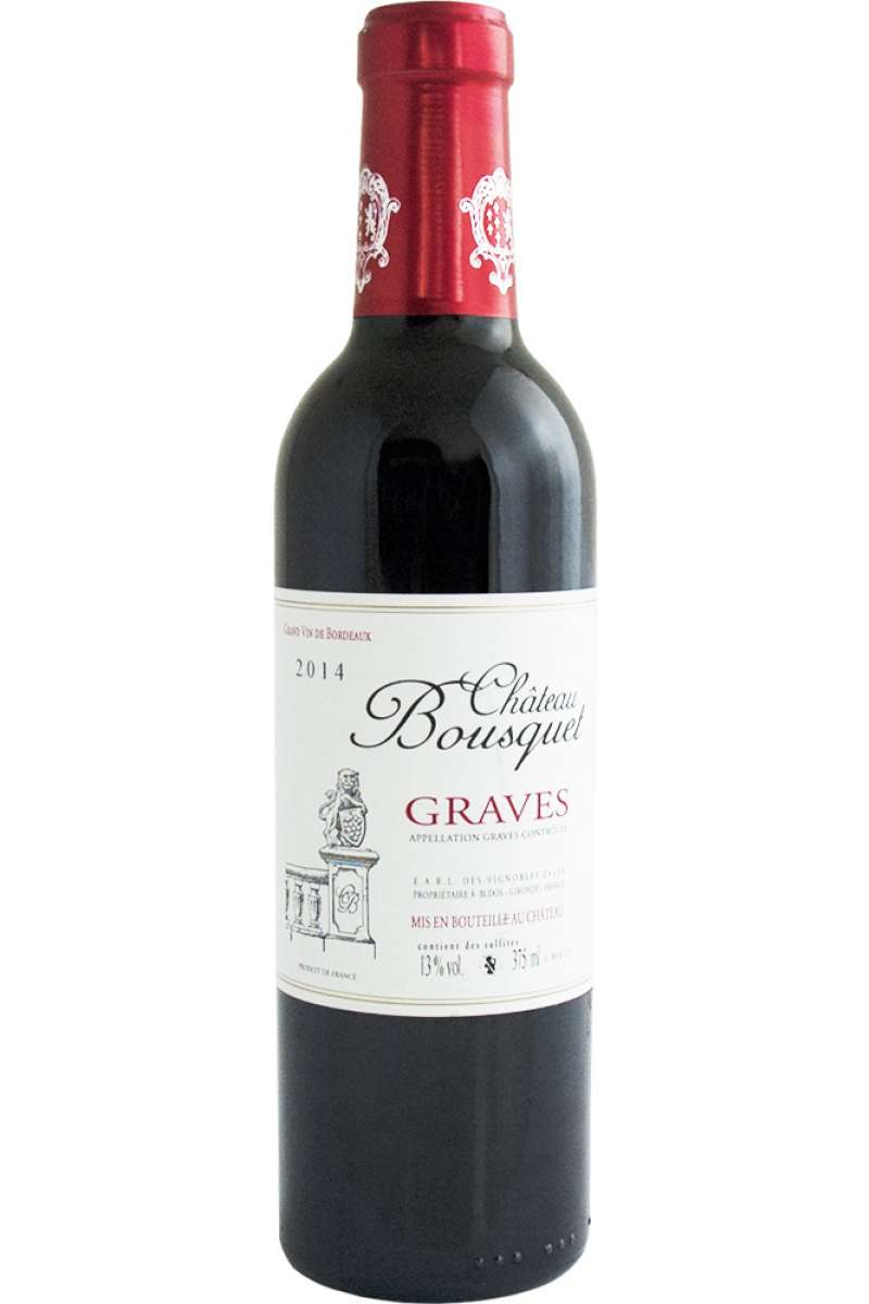 Château Bousquet Rouge, Graves, Bordeaux, France, 2014 (Half Bottle - 37.5cl)