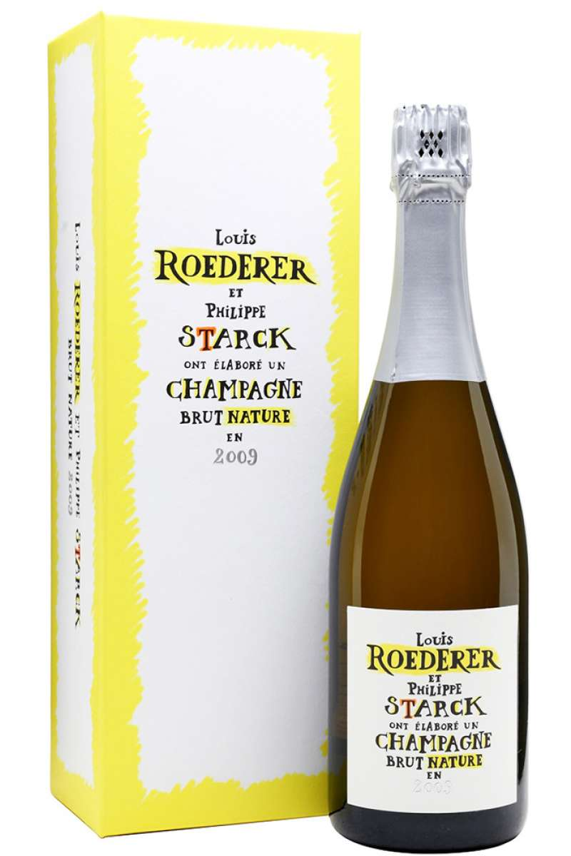 Champagne, Brut Nature, Louis Roederer, Philippe Starck, Collection Item, France, 2009