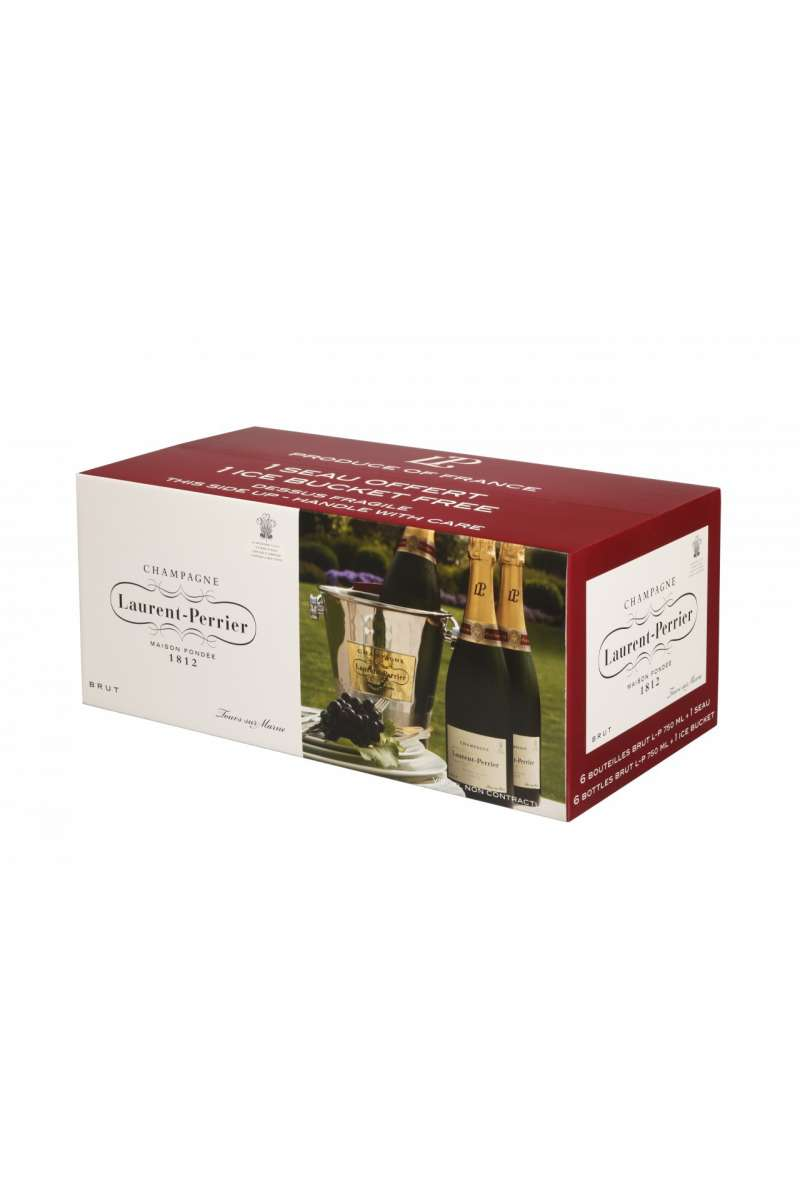 Champagne, Laurent Perrier, Brut, Tours sur Marne, France (6 x 75cl with Six Glasses or One Ice Bucket)