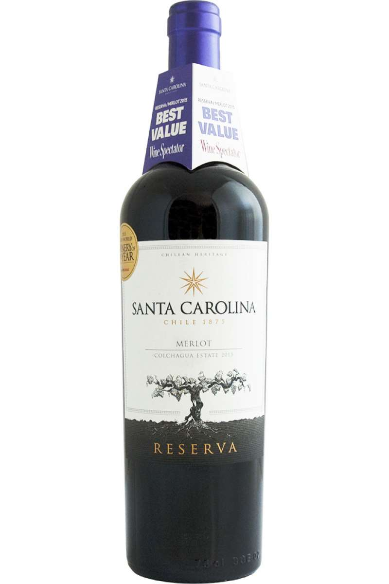 Merlot Reserva, Santa Carolina, Colchagua Valley, Chile, 2017