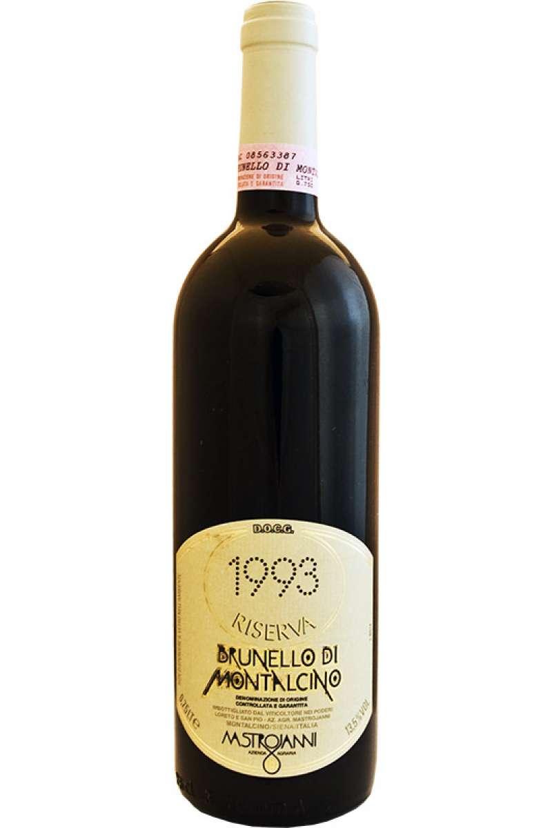 Brunello di Montalcino, Riserva, Azienda Mastrojanni, DOCG, Montalcino, Siena Tuscany Italy, 1993