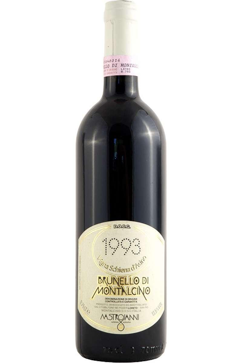 Brunello di Montalcino Cru, Schiena Vigna d'Asino, Azienda Mastrojanni, Montalcino, Siena, Tuscany, Italy, 1993