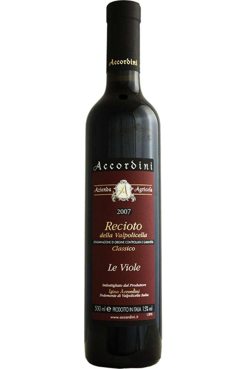 Recioto della Valpolicella, Classico Superiore, Le Viole, Accordini, Pedemonte, Veneto, Italy, 2007 (50cl)