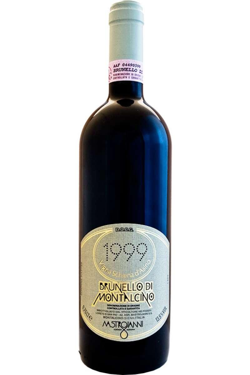 Brunello di Montalcino, Schiena d'Asino Mastrojanni, Monatlcino, Siena, Tuscany, Italy 1999