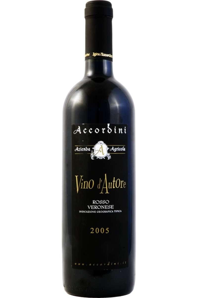 Vino d'Autore, Rosso Veronese IGT, Accordini, Azienda Agricola, Pedemonte, Veneto, Italy, 2005