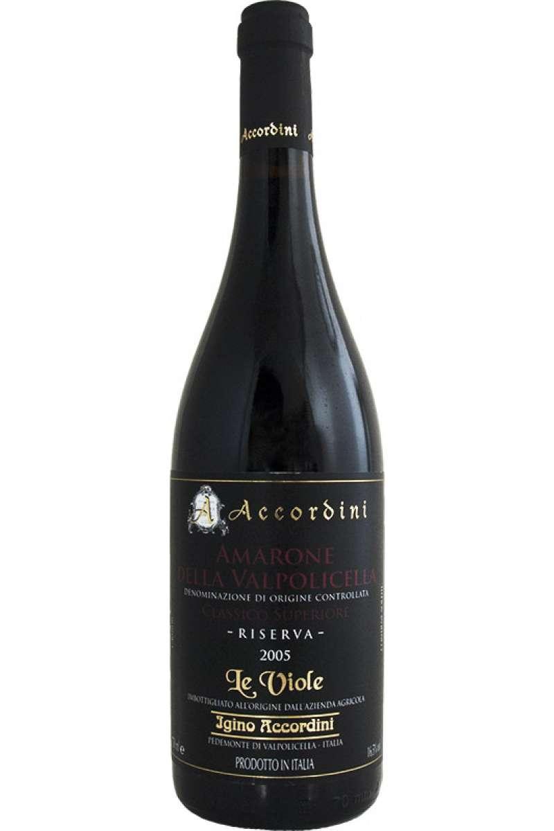 Amarone Classico, Riserva, Le Viole, Accordini, Pedemonte, Veneto, Italy, 2005