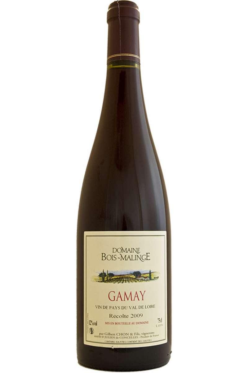Gamay, Domaine du Bois Malinge, Gilbert Chon, Vin de Pays de Val de Loire IGP, Loire, France, 2018