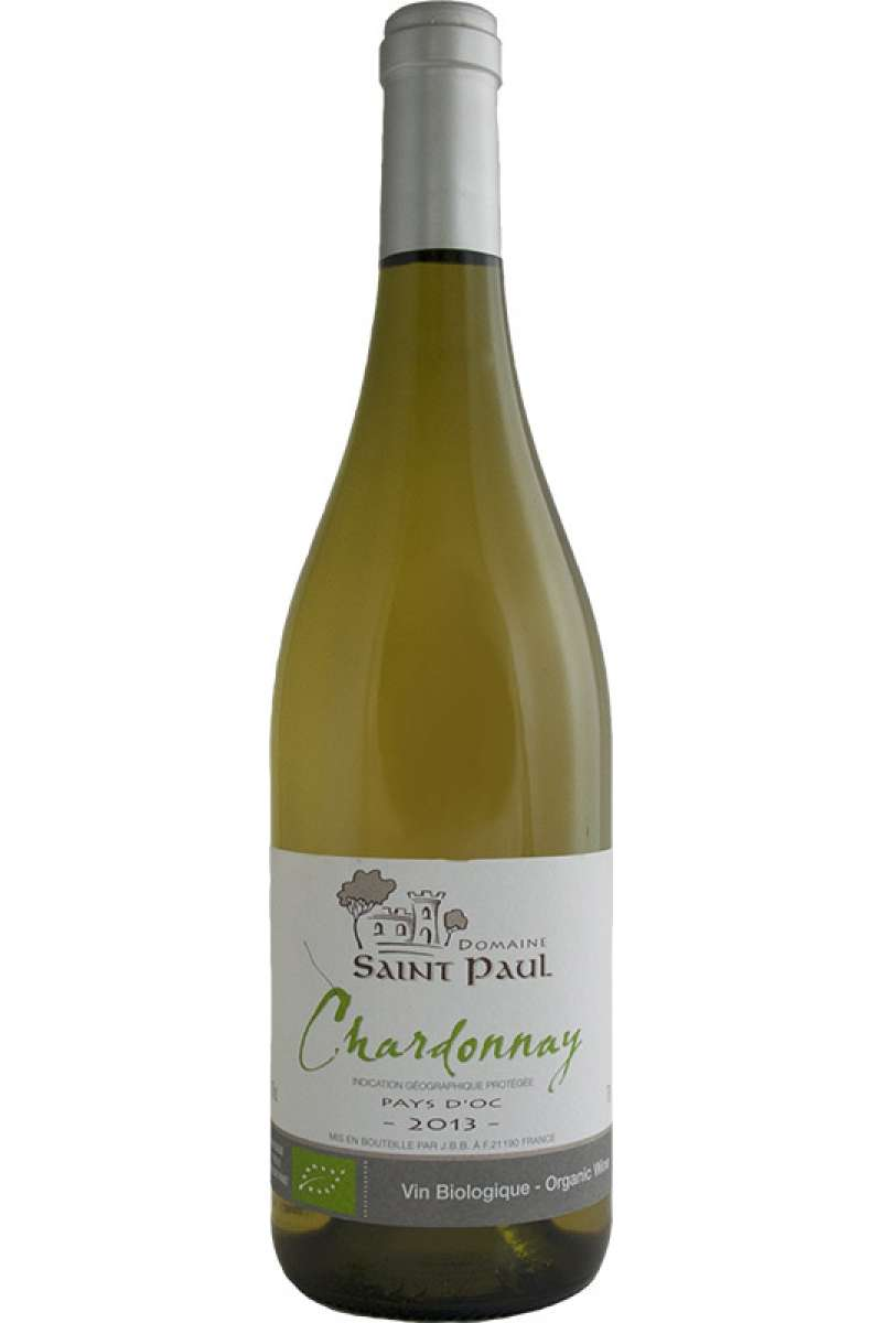 Chardonnay, Organic, Domaine Saint Paul, Pays d'Oc, France, 2014