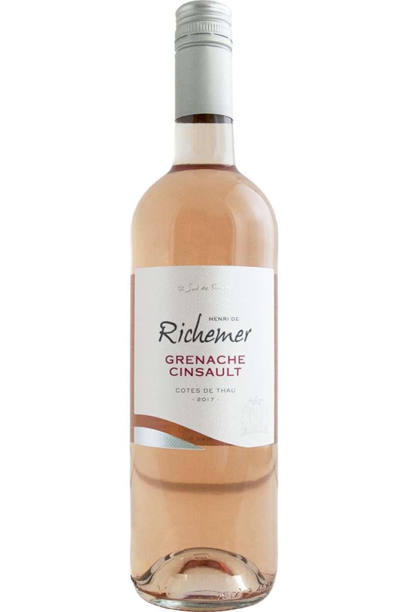 Grenache Cinsault Rosé, Henri de Richemer, Côtes de Thau, Languedoc-Roussillon, France, 2018