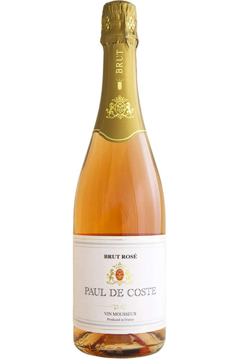 Rosé Brut, Sparkling, Paul de Coste, Burgundy France